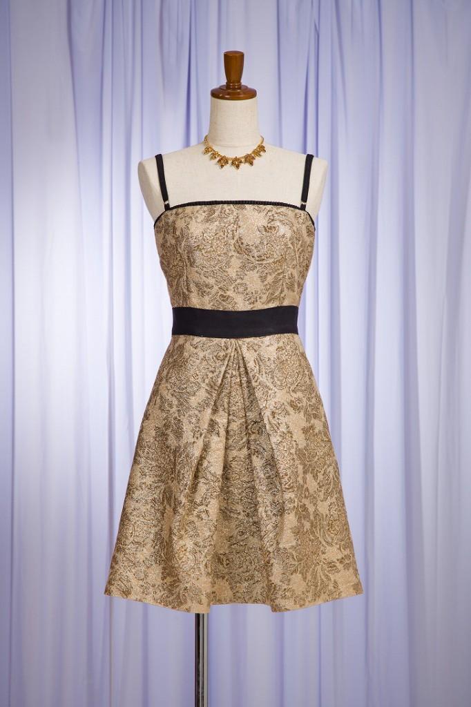 D\u0026G ドルガバ ゴールドベアドレス , 結婚式・パーティドレス レンタル