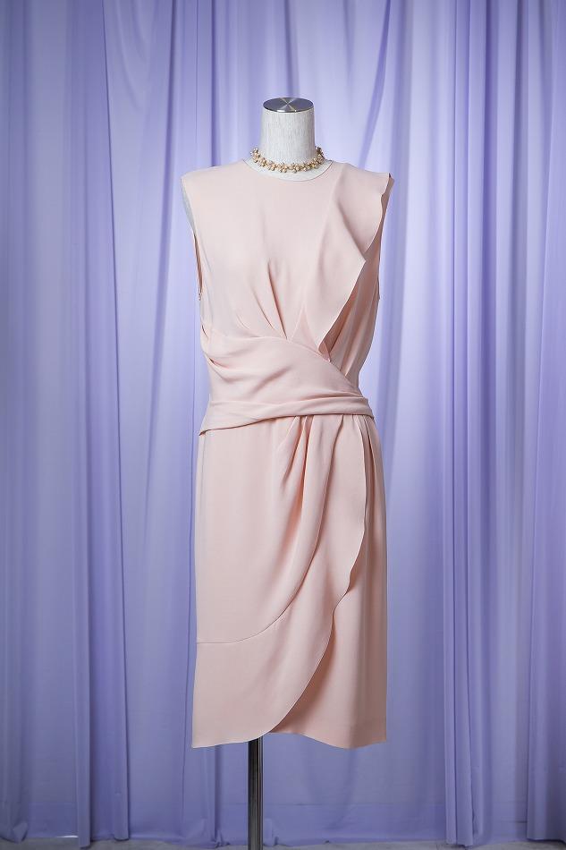Dior ピンクベージュドレス
