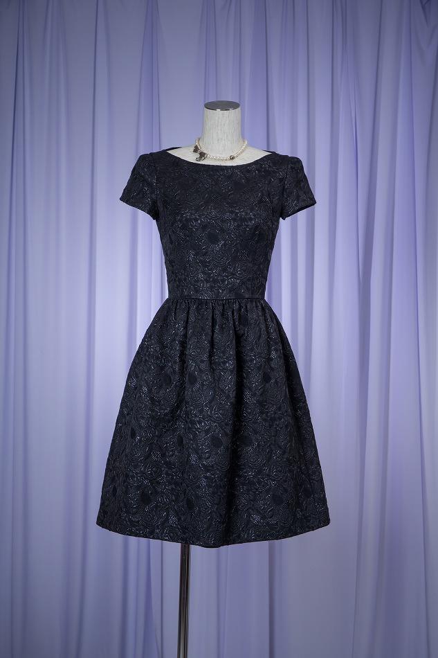 PRADA ブラックローズドレス